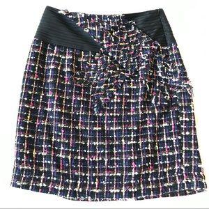 ANTHROPOLOGIE Bow Tweed Skirt by Taikonhu